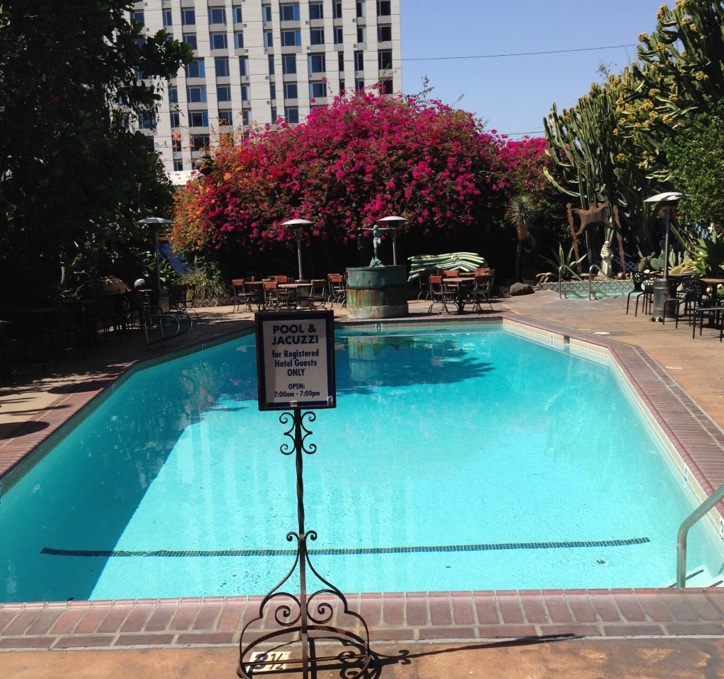 In ground pool at Hotel Figueroa dtLA