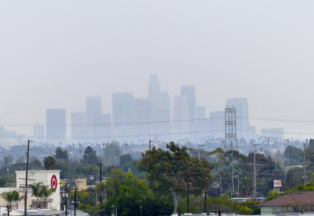 downtown LA from Culver City