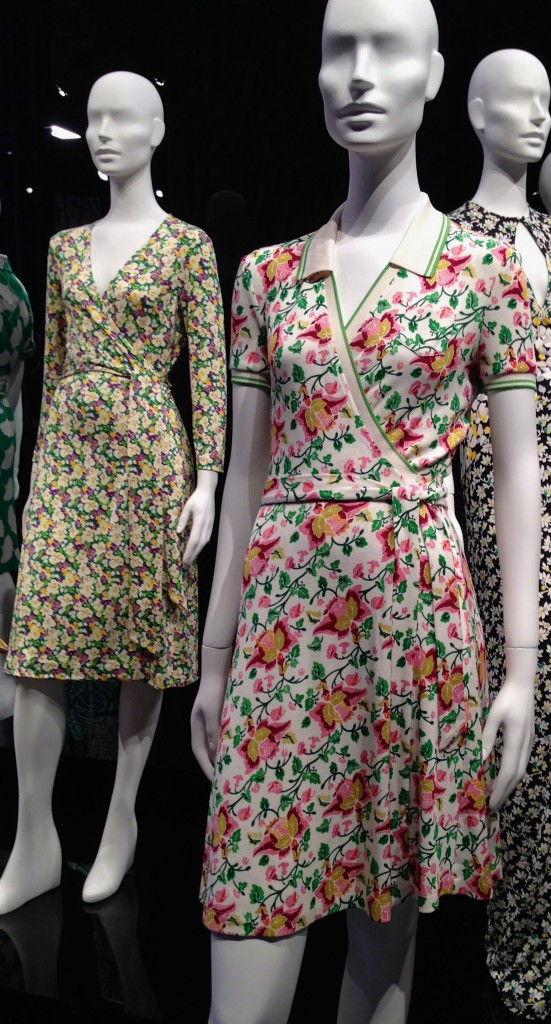 DVF wrap dress with color
