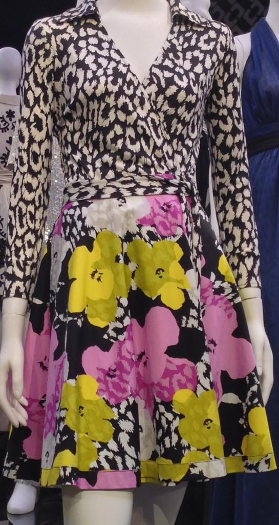VF wrap dress big floral skirt