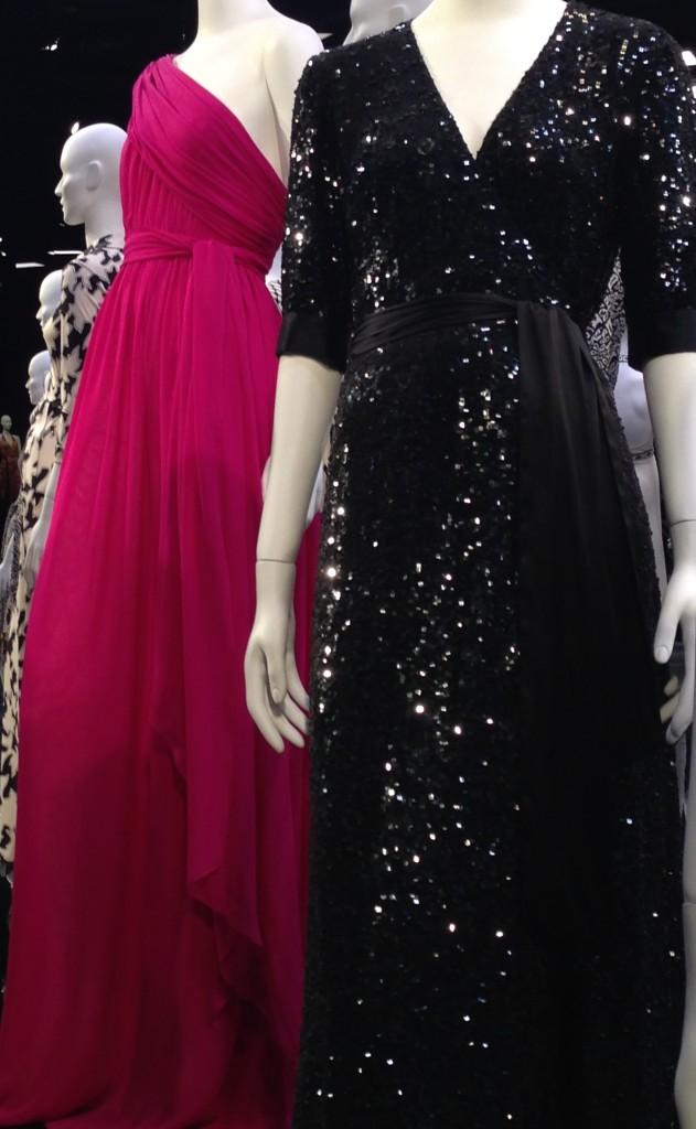 DVF wrap dress evening gowns