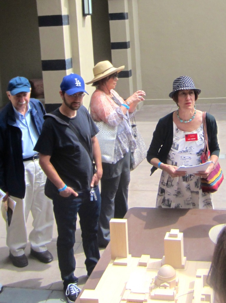 in Front of Wilshire Blvd. Temple model
