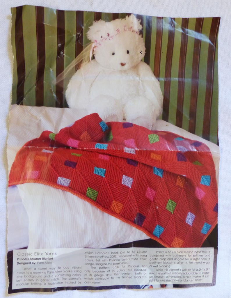 Princess Squares blanket