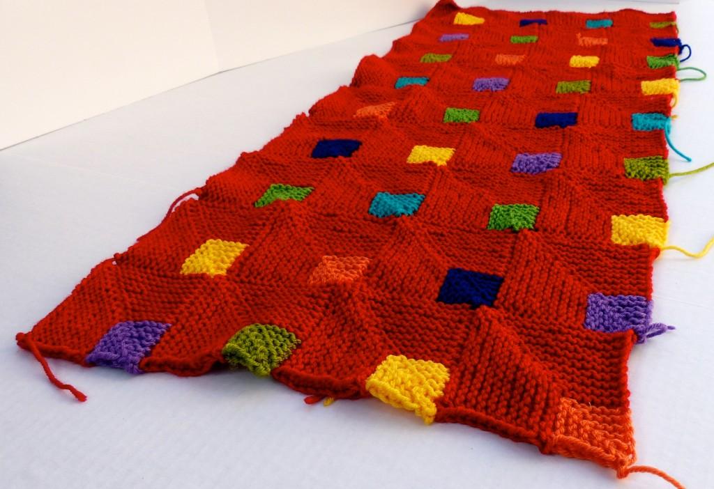 Knitting the blanket