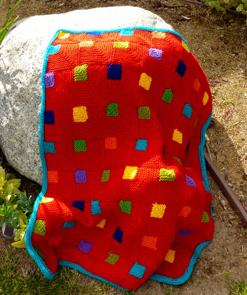 Princess Squares blanket finished.