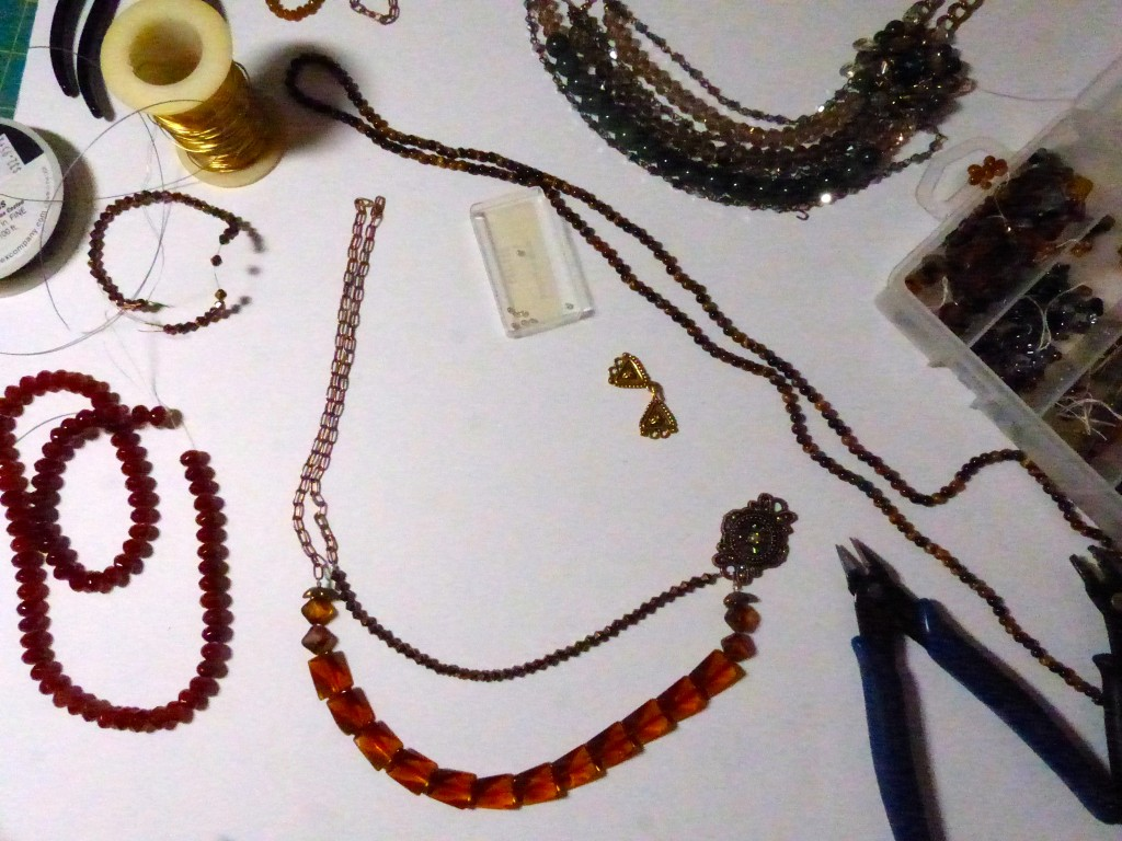 assembling the necklace