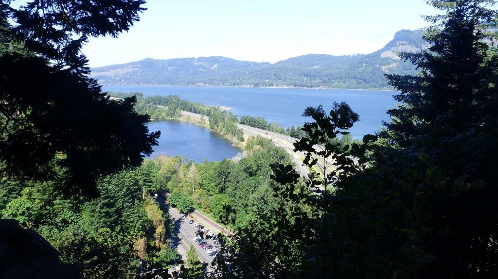 View from top of Multnomah Falls
